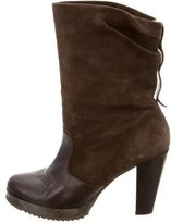 Robert Clergerie Suede Mid-Calf Boots