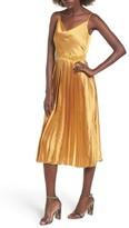 Tularosa Women's Mel Pleated Satin Midi Dress