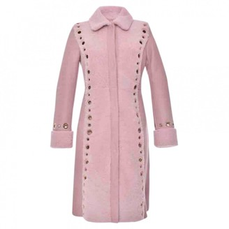 Blumarine Pink Leather Coat for Women