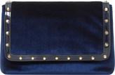 Dune Borriss velvet studded clutch bag