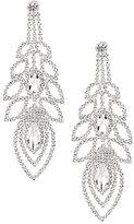 Cezanne Rhinestone Open Ovals Chandelier Statement Earrings
