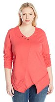 Neon Buddha Women's Plus Size Dalton Pullover 3/4 Sleeved