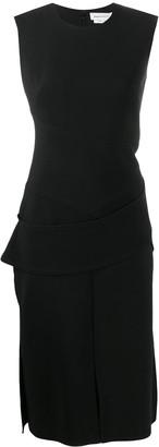Alexander McQueen sleeveless panelled fitted dress