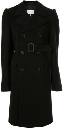Maison Margiela double breasted belted coat