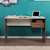 Hinderliter Writing Desk Winston Porter Color: Walnut / High Gloss White