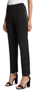 Tahari ASL Satin-Stripe Straight-Leg Pants