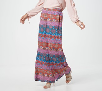 Tolani Collection Regular Printed Pull-On Woven Palazzo Pants