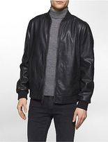 Calvin Klein Mens Faux Leather Camo Twill Reversible Jacket