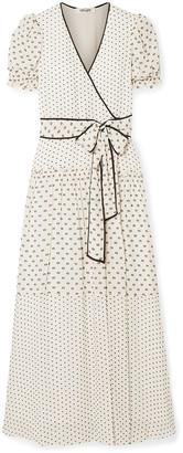 Diane von Furstenberg Celeste Fil Coupe Chiffon Maxi Wrap Dress