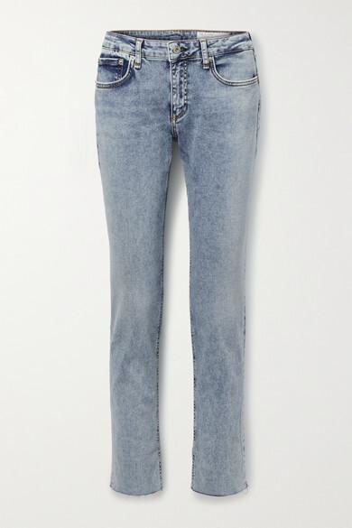 Thumbnail for your product : Rag & Bone Dre Low-rise Slim Boyfriend Jeans - Light blue