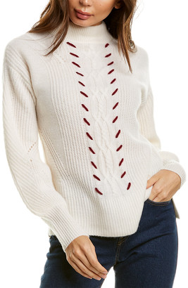 Design History Cable Whipstitch Cashmere Sweater