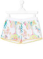 Roberto Cavalli teen abstract paisley print shorts - kids - Cotton/Spandex/Elastane - 14 yrs