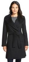 Trina Turk 'Violet' Wool Blend Wrap Coat