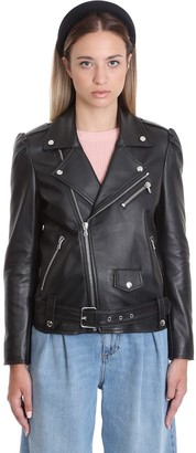 RED Valentino Leather Jacket In Black Leather