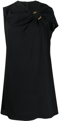 Versace Draped Detail Short Dress