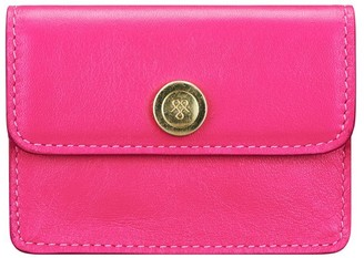 Maxwell Scott Bags Finest Quality Womens Pink Leather Business Card Case