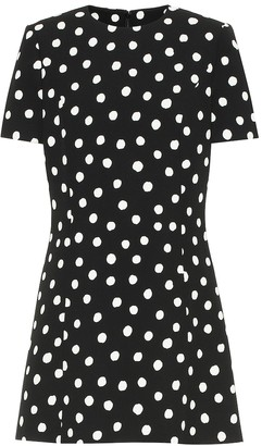 Saint Laurent Polka-dot crepe minidress