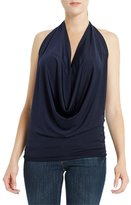 Poshsquare Women's Fashion Soft Basic Solid Color Halter Drape Party Club Top USA T317 M