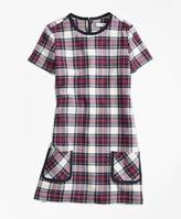 Brooks Brothers Short-Sleeve Twill Plaid Dress