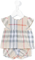 Burberry House Check short set - kids - Cotton - 3 mth