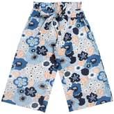 Chloé Floral Print Cotton Poplin Pants