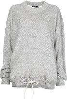 Bassike french terry drawstring sweatshirt
