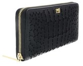 Roberto Cavalli Crocodilia 192 Black Long Wallet.