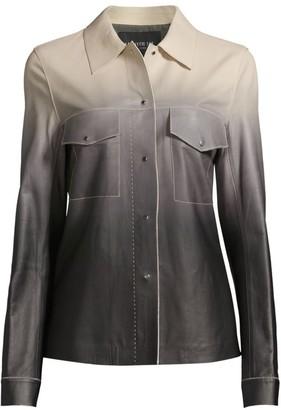 Lafayette 148 New York John Ombre Leather Jacket