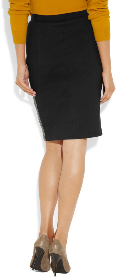 Moschino Cheap & Chic Moschino Cheap and Chic Sequined jersey pencil skirt