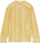 Masscob Gathered Silk-shantung Shirt