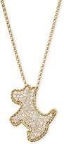 Roberto Coin 18k Yellow Gold Diamond Scottie Dog Pendant Necklace