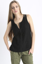 Sanctuary Geo Lace Shell Top