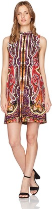 Tiana B Women's Petite Printed Trapeze Dress