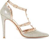 Dune Daenerys stud-embellished glitter heeled courts