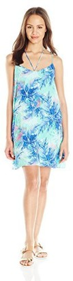 Lucy-Love Lucy Love Women's Cassie Palm Print Shift Dress