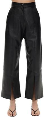 MATÉRIEL Cropped Faux Leather Straight Leg Pants