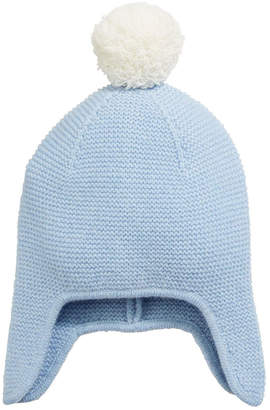 Sofia Cashmere Texture Knit Cashmere Baby Trapper Hat