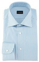 Ermenegildo Zegna Bengal-Stripe Woven Dress Shirt, Open White Pattern