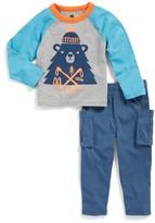 Tea Collection Infant Boy's Munro Bear Graphic T-Shirt & Cargo Pants Set