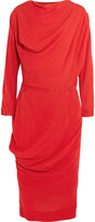 Vivienne Westwood New Fond Draped Voile Dress - Red