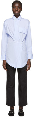 Markoo Blue Snap Button-Down Shirt