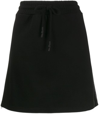 Mcq Swallow Side-Zip Drawstring Skirt