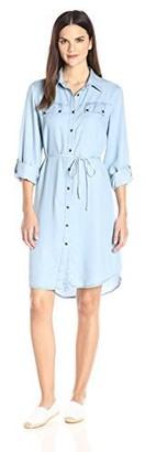 Ronni Nicole Women's 3/4 Sleeve Tencil Shirt Dress