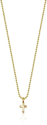 "Alex Woo Mini Additions"" 14k Yellow Gold Cross Pendant Necklace 16"""