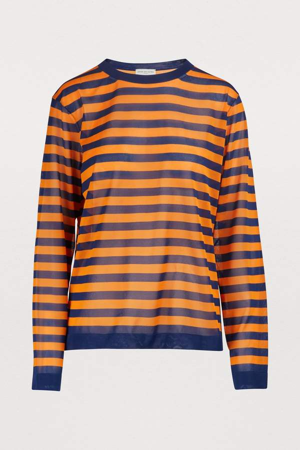 121804e8b47 Blue And Yellow Striped Sweater - ShopStyle