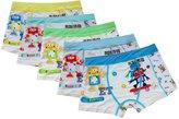 CHUNG Little Big boys Soft Modal Boxer Briefs Underwear 5 Pack 3-7Y