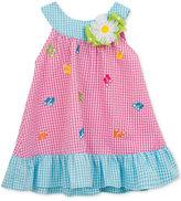Rare Editions Gingham Flip-Flops Dress, Baby Girls (0-24 Months)