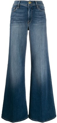 Frame High-Waisted Wide Jeans