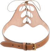 Alexander McQueen Tie-Up Leather Belt