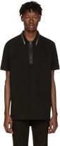 Givenchy Black Zip Collar Polo